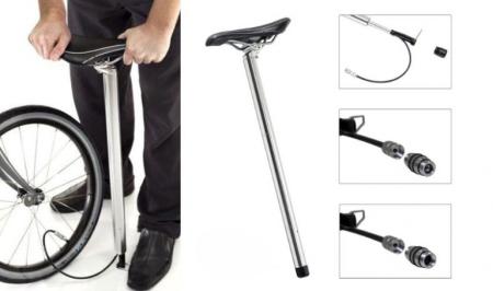 单车座与打气筒的完美结合创意设计