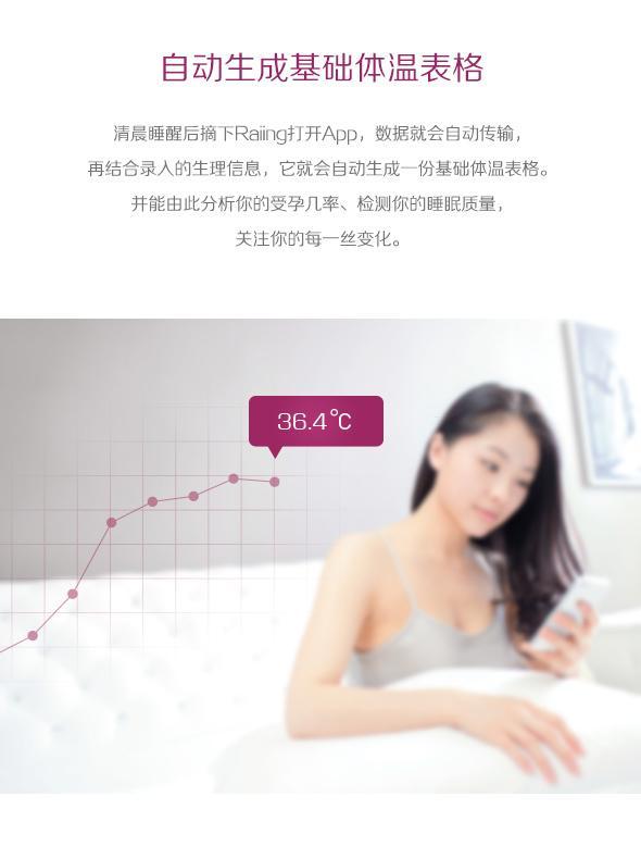 Raiing女性智能体温贴创意,有助提高受孕率