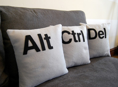 Ctrl+Alt+Del抱枕创意设计