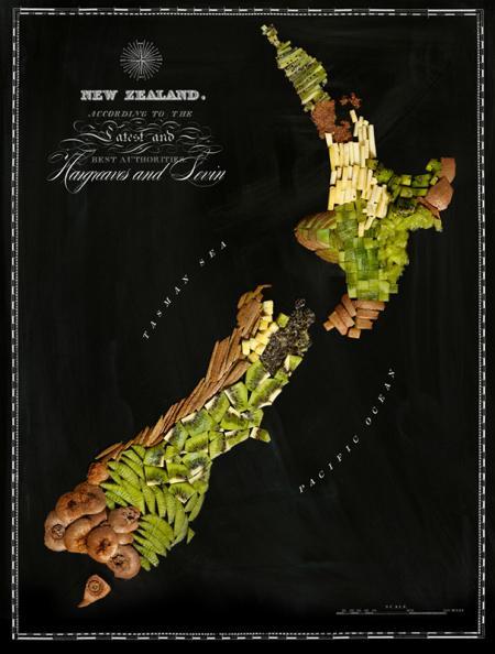 有趣的食物地图创意设计