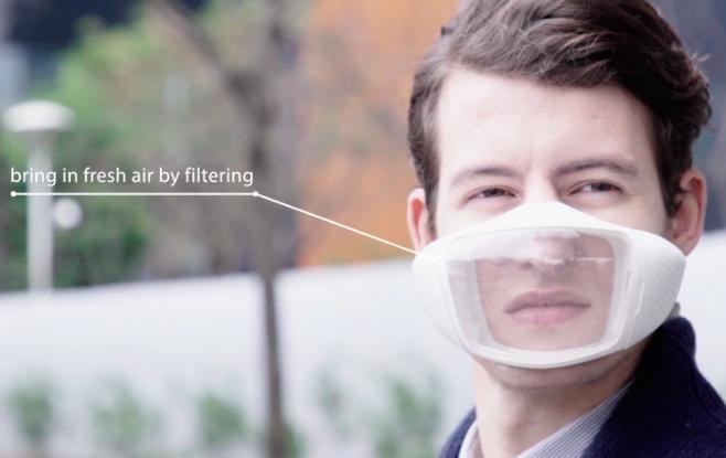 高科技口罩创意设计创意,抗雾霾和装B神器