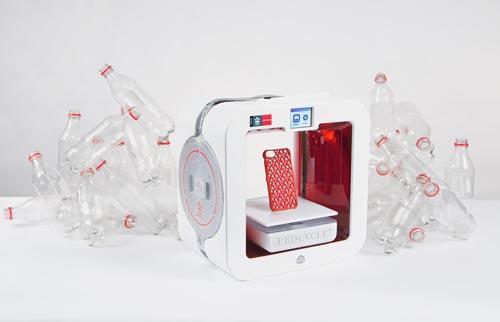 迷你塑料瓶3D打印机创意设计