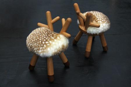 超萌毛茸茸小鹿凳子创意设计