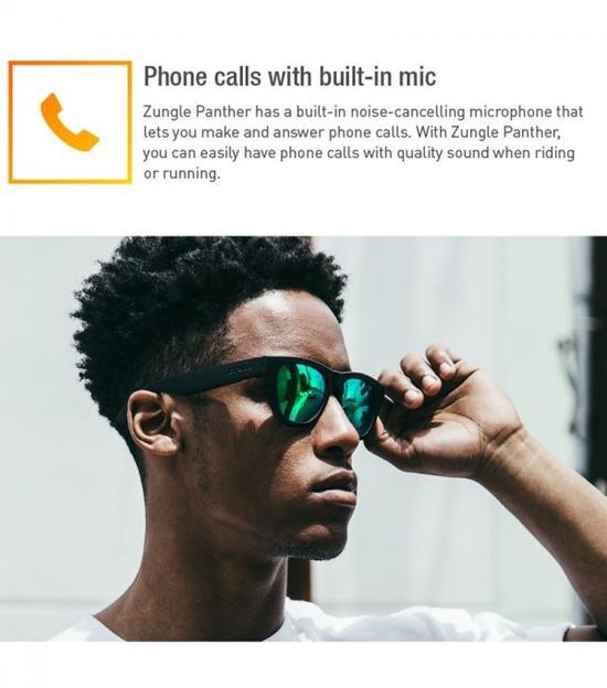 zungle太阳镜创意,拥有骨传导技术可听音乐可打电话创意设计