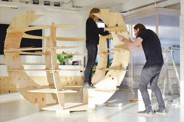 宜家:20块木板打造一个创意室内花园空间