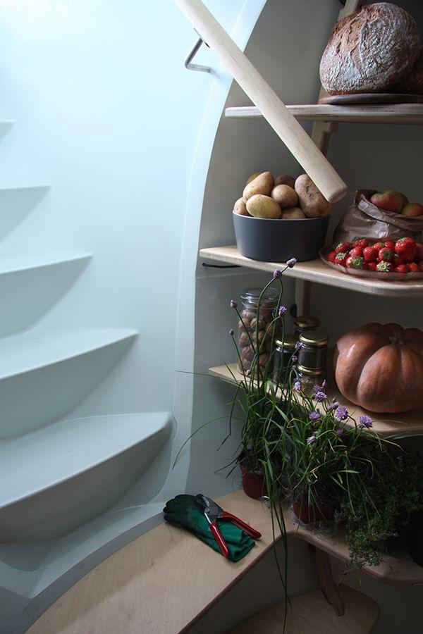 埋在地下的恒温冰箱创意设计