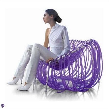 塑料条椅子创意设计