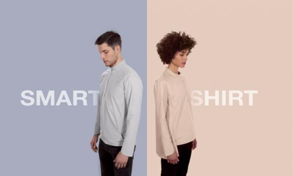 10ELEVEN9智能衬衫创意,带数字纽扣和摄像头