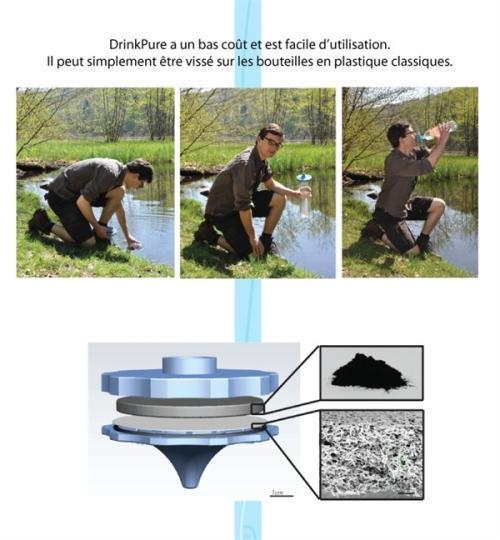 DrinkPure创意,轻便滤水装置创意