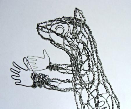 栩栩如生铁丝动物模型创意设计