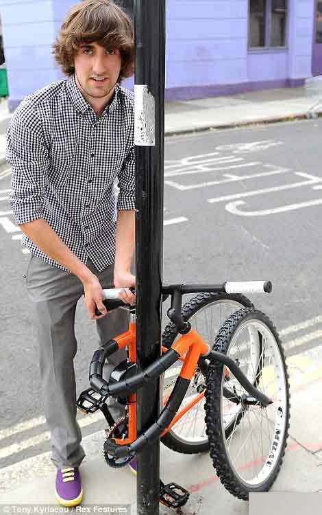 超创意设计:可以弯曲的自行车创意设计