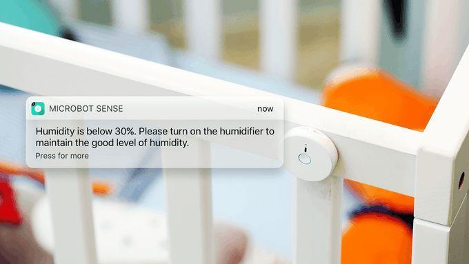 小巧的纽扣监测器创意创意,可监测空气中多种数据