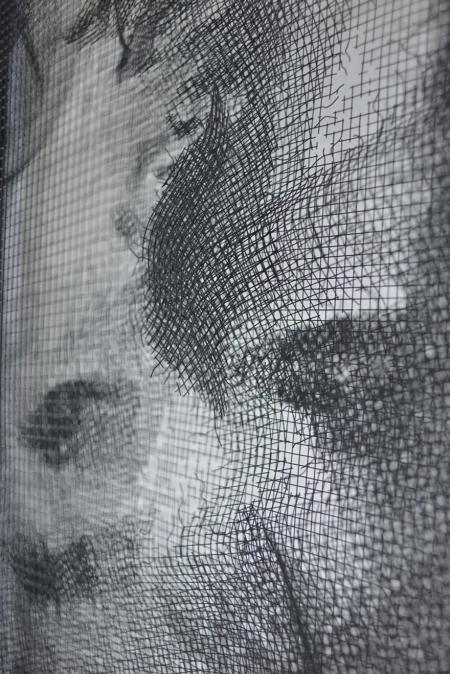 逼真钢丝网肖像画创意设计