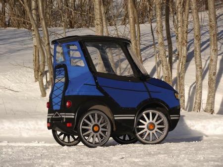 伪装成汽车的电动自行车创意,PodRide创意设计