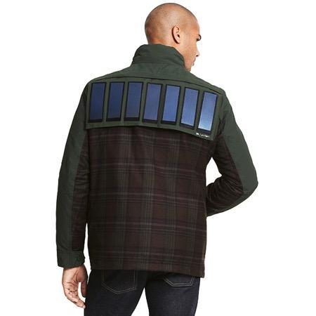 带有太阳能充电板的外套创意设计