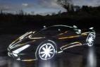 光影涂鸦跑车创意设计