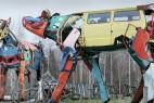 废旧汽车变身奶牛创意设计