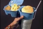 一体化快餐盒创意设计
