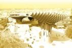 木结构公共遮阳广场创意设计