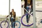 车身可做车锁的自行车创意设计