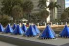 旋转太阳能电池锥创意设计