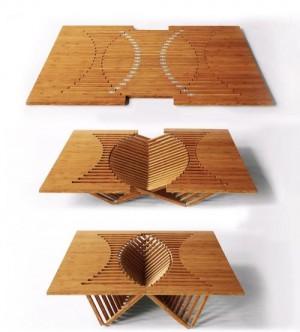 独特的铰链系统桌椅创意设计
