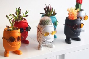 时尚的玩偶盆栽创意设计