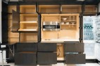 藏在墙里的全功能隐形厨房创意设计