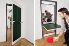 乒乓球桌与房门创意设计