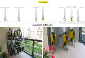 自行车竖放装置创意,可节省40%空间创意设计