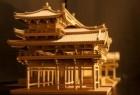 逼真纸板庙宇模型创意设计