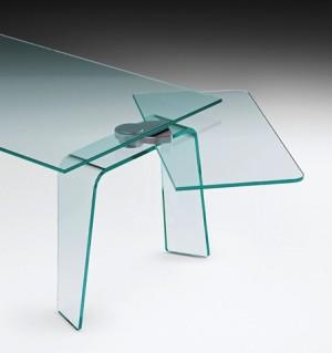 伸展结构的玻璃桌创意设计